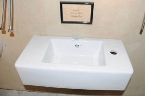Vask 7 - Mål: 50x25 cm Pris: Kr. 1.995,- Fåes med hane hul til venstre også